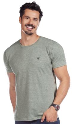 Camiseta careca meia malha