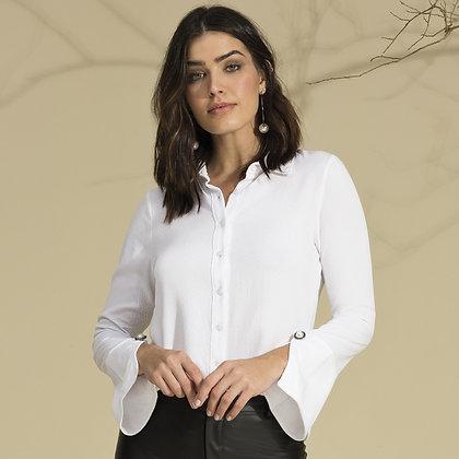 Camisa de botão branca