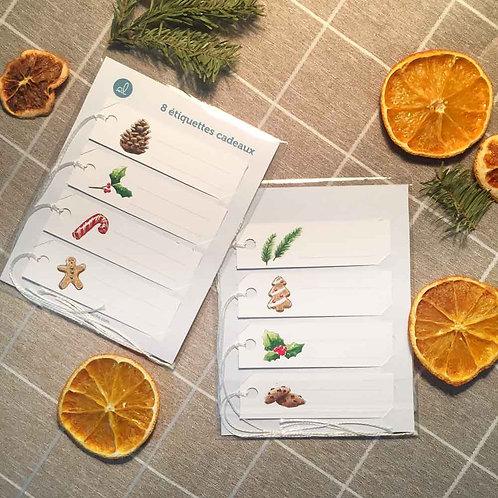 8 étiquettes cadeaux