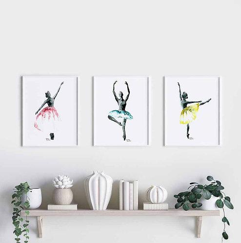Les aquarelles Ballerines
