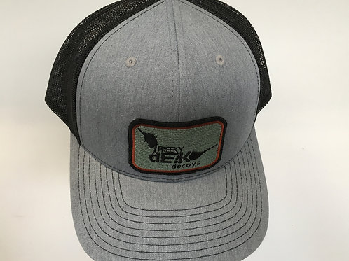 Heather Grey/Black Hat