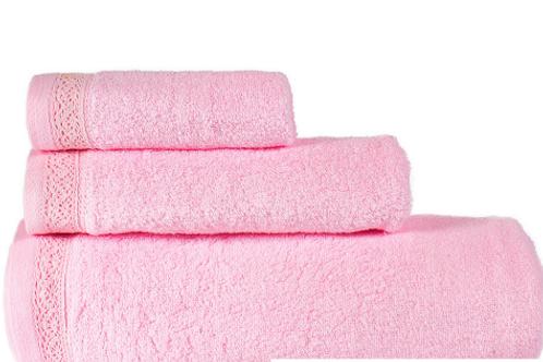 Полотенце Zero Twist  Розовый (с кружевом)