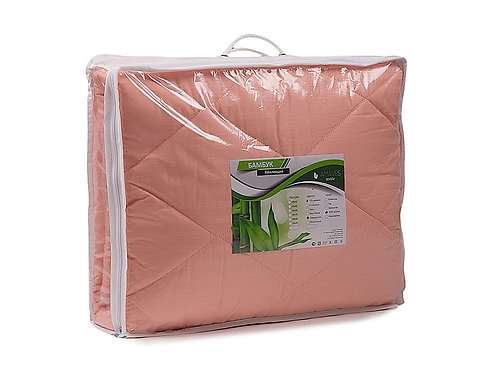 Одеяло, среднее, Бамбук, плотность 300 гр/м2, чехол страйп-сатин 100% хлопок