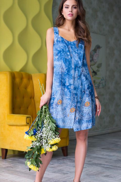 """16233 Mia-Mia Платье домашнее женское """"Gloria"""") print # 996 синий"""