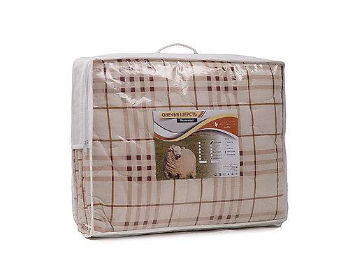Одеяло, облегченное, плотность 100 гр/м2, Овечья шерсть