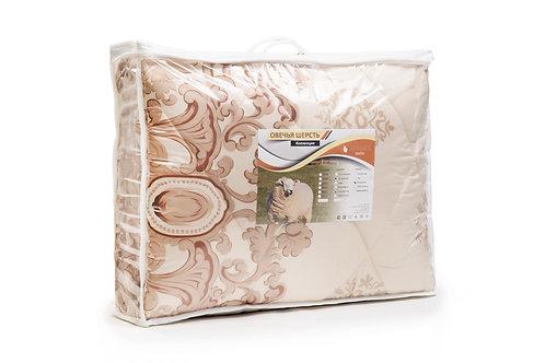 Одеяло, среднее, плотность 300 гр/м2, Овечья шерсть, чехол полисатин