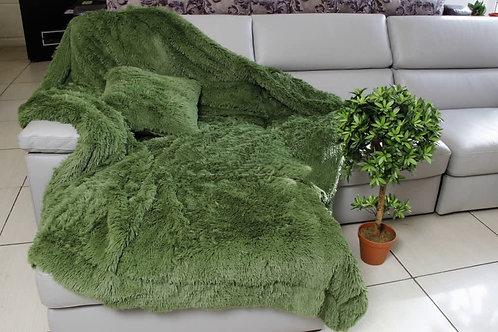 Плед Искусственный мех (зеленый)
