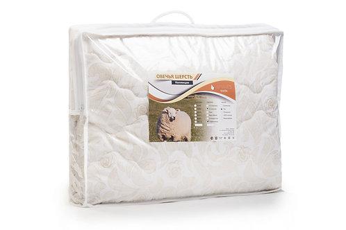 Одеяло, облегченное, плотность 100 гр/м2, Овечья шерсть, чехол тик