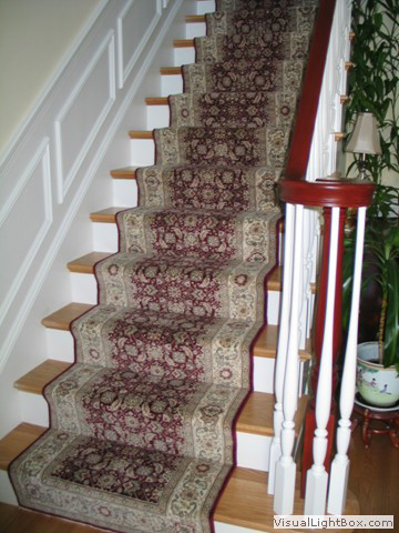 Straight stair way
