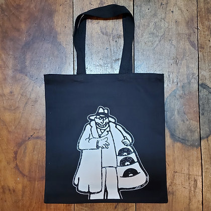 """""""Ethical Hustler""""- Woven Record Tote Bag • [Locally Hand Screenprinted]"""