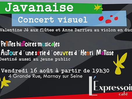 Javanaise Pour célébrer Matisse et le Jazz