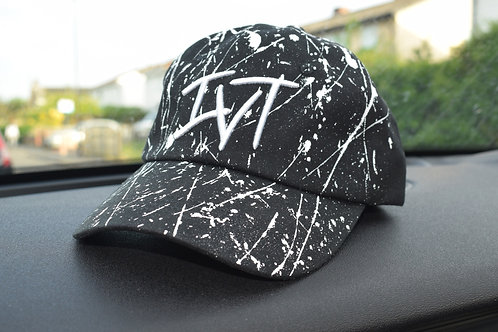 White Paint Splattered IVT Cap