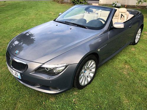 BMW 630i Cabriolet 272ch boite méca suivi BMW