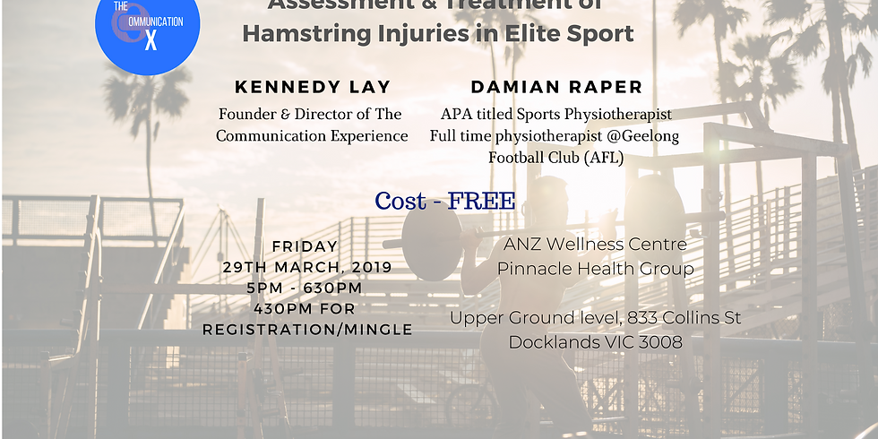 The Communication Experience Launch - AFL Physio on Hamstring Injuries