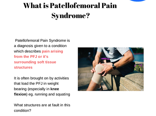 Clinical e-book - PFJS (runner's knee)