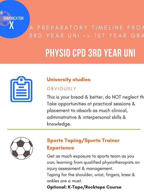 Physiotherapy student should-do courses