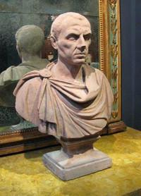 TERRA-COTTA BUST OF A ROMAN EMPEROR/SENATOR