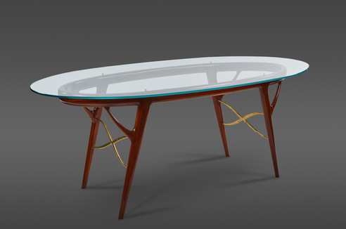 A STRIKING OVAL TABLE BY ICO PARISI