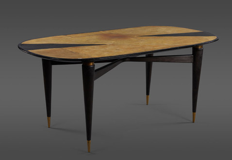 A SPECTACULAR FIBERGLASS AND RESIN DINING TABLE