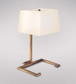 MODERNE GILDED IRON TABLE LAMP