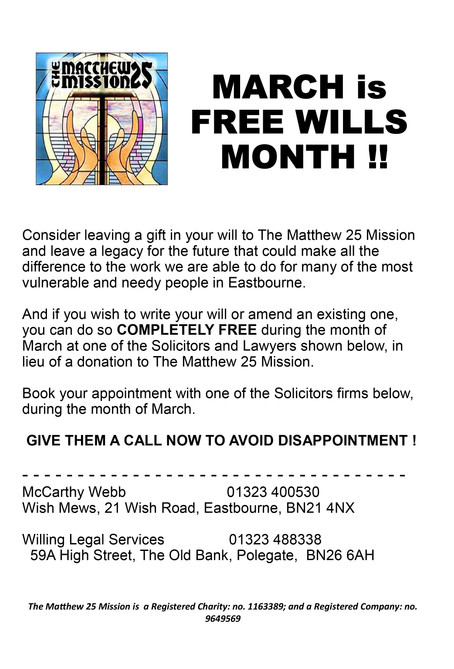 March is free WILLS month!