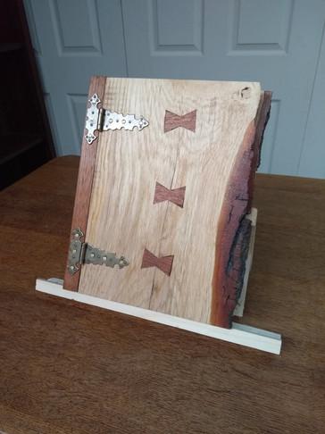 Wooden folder closed