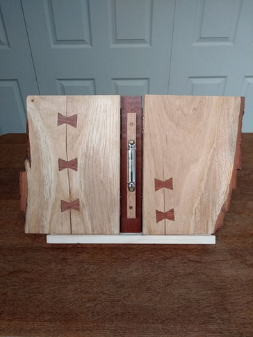 Wooden folder open