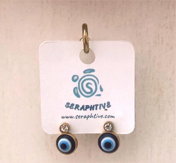Evil Eye Protection Stud Earrings