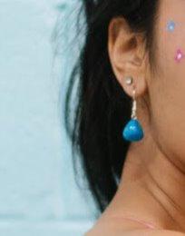 Blue Howlite Crystal Healing Earrings