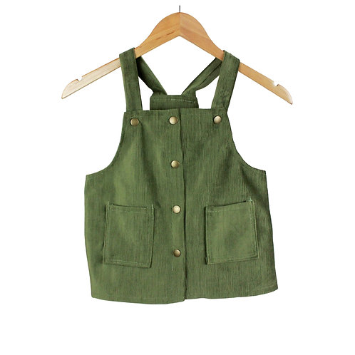 Baby Verdona Green Olive Jumper Dress