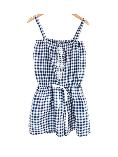 Mommy Dotella Gingham Adjustable Jumpsuit