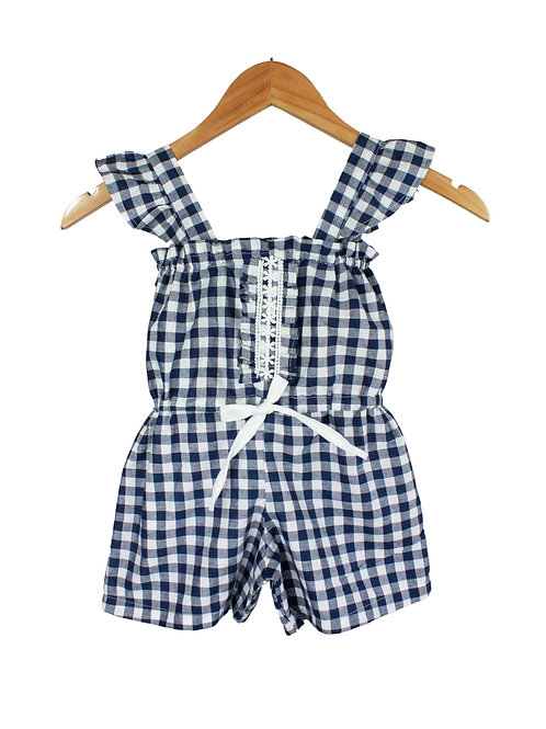 Baby Dotella Gingham Jumpsuit