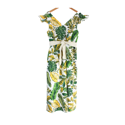 Mommy Olive Palm Print Dress