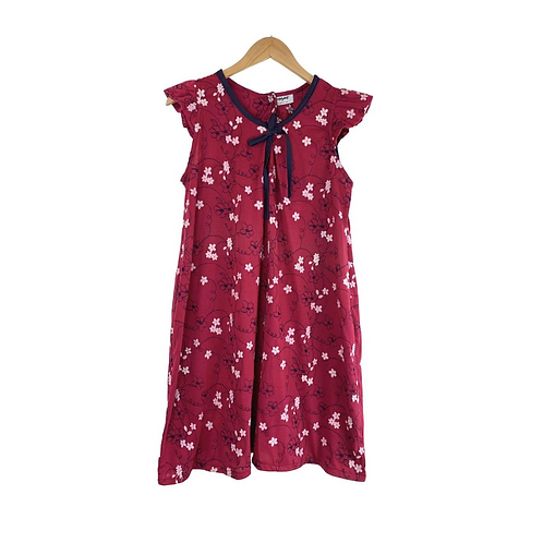 Mommy Lucinda Cotton Summer Floral Dress Embroidered