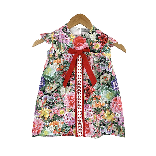 Baby Catrina Floral Dress with Crochet
