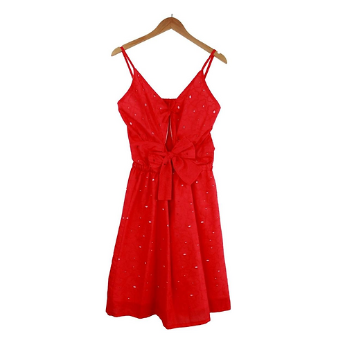 Mommy Chiara Red Dress Textured
