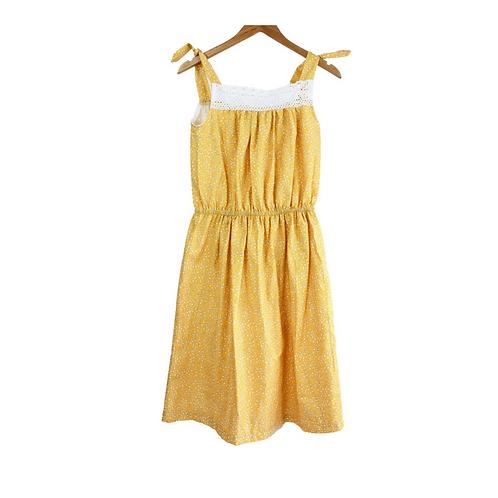 Mommy Ginger Crochet Trim Floral Dress