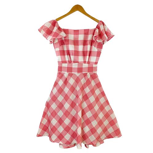 Mommy Carmenza Gingham Dress