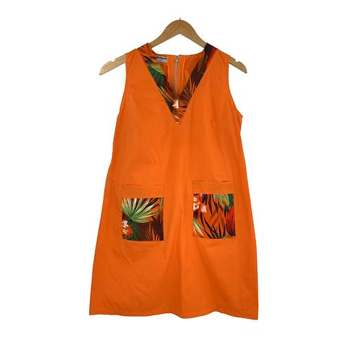 Mommy Lionetta Orange & Floral Print