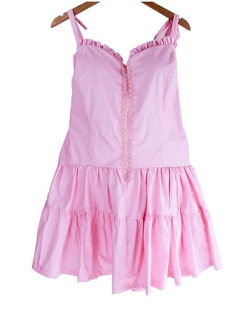 Mommy Rosé  Pink Satin Dress