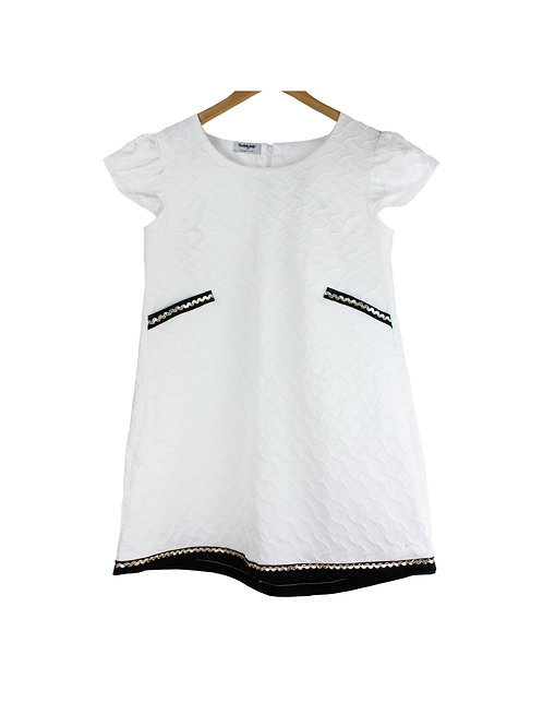Mommy Sognare Textured White Dress