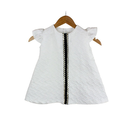 Baby Sognare Textured White Dress