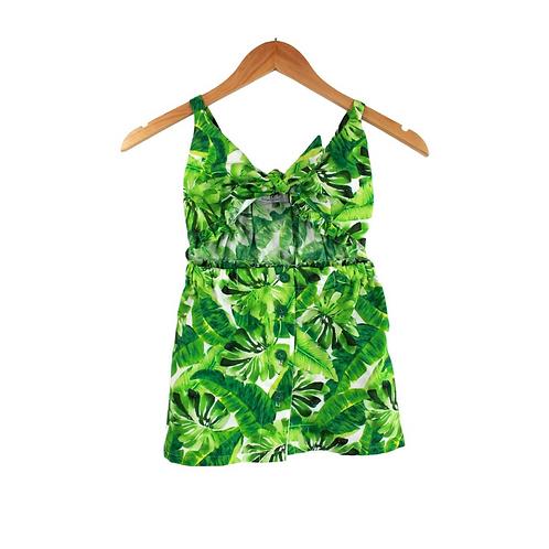 Baby Giungla Summer Dress Palm Stamp