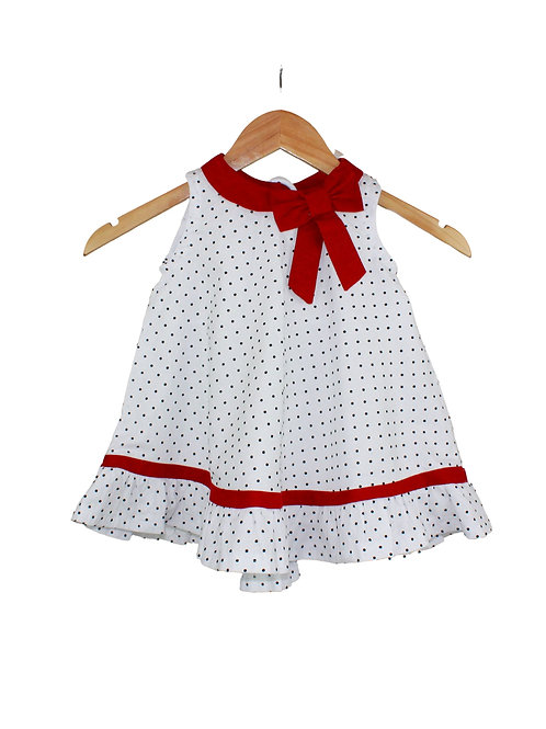 Baby Penelope Dots & Red Bow