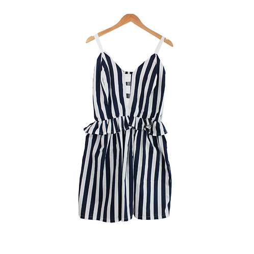 Mommy Loretta Striped White & Blue Dress