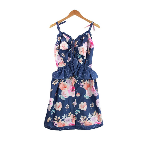 Mommy Florentina Ruffle Floral Dress