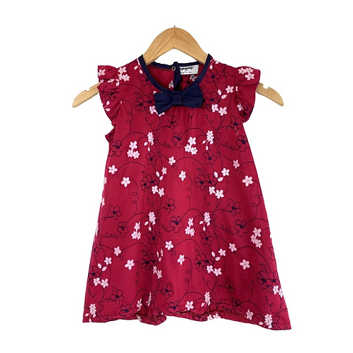 Baby Lucinda Cotton Summer Floral Dress Embroidered