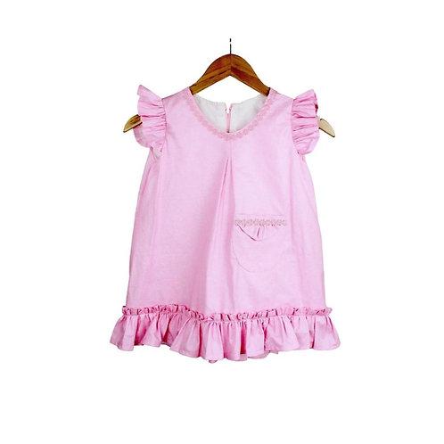 Baby Rosé  Pink Satin Dress