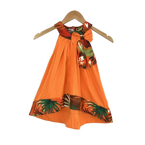 Baby Lionetta Orange & Floran Print