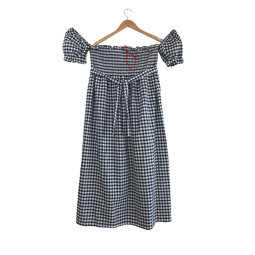 Mommy Silvina Ginham Maxi Dress
